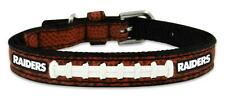 Oakland Raiders Toy Leather Lace Dog Collar [NEW] NFL Pet Cat Lead Small XS