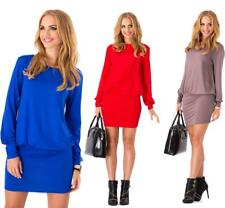Kleid Mini Top Langarmkleid Dress 5 Farben Gr. S M L XL XXL 3XL, 8998
