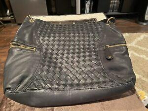 Black Maxx New York Nappa Leather Double Pocket Hobo
