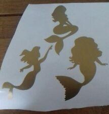 X6 Gold mermaid small Vinyl sticker decal Wine Bottle Wall Book glass mug