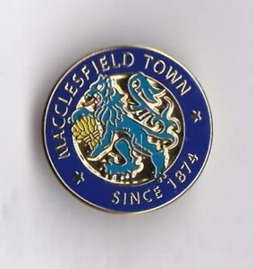 Macclesfield Town - lapel badge butterfly fitting