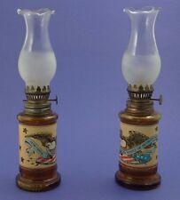 "PAIR OF PATRIOTIC BICENTENNIAL (SPIRIT OF '76) OIL LAMPS ~ USA Eagle 1976 ~ 9.5"""