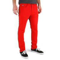 Superslick Pantalon rouge tight Color Pant slim fit rouge Unisexe femmes U Homme