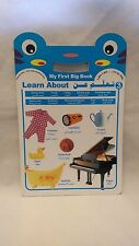 Big BLUE Learning Picture HardBack Book Teach Children Arabic Engilsh Alphabet K