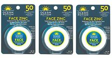 3 Pack Ocean Potion Face Clear Zinc Oxide, Sunscreen SPF 50, 1 Ounce each