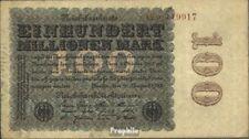 Deutsches Reich Rosenbg: 106e, Wasserzeichen Kreuzblüten 6stellige KN braun gebr