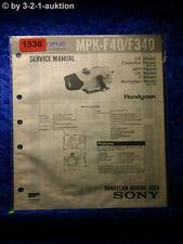 Sony Service Manual MPK F40 / F340 Handycam Marine Pack (#1536)