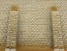 Muro mattoni  con piloni per plastico o diorama 1/87- HO cm.17X12,5 - Krea