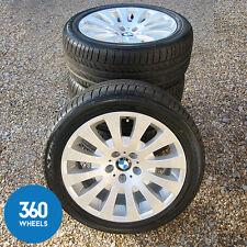 "GENUINE BMW 18"" 6 SERIES 118 M SPORT RADIAL SPOKE ALLOY WHEELS TYRE E63 E64"