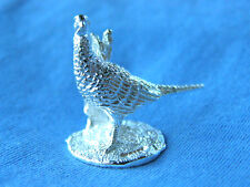 SILVER PHEASANT MODEL.  HALLMARKED SILVER PHEASANT FIGURE SHELF MODEL