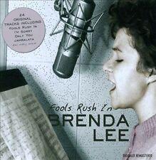 """BRENDA LEE, CD """"FOOLS RUSH IN"""" 24 SONGS, NEW SEALED"""
