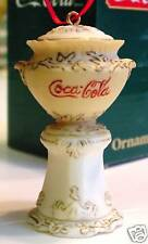 COCACOLA URN VICTORIAN SYRUP DISPENSER Coke Miniature Ornament Willitts 1991 NOS