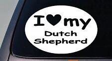 I LOVE MY DUTCH SHEPHERD SCHUTZHUND STICKER DOG  TRUCK WINDOW STICKER DECAL