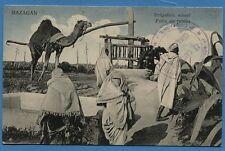 CPA: Maroc - MAZAGAN - Puits de jardin / Cachet 1° Régiment de Zouaves/ 1913