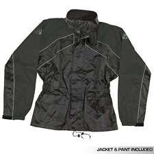 JOE ROCKET RS2 MENS RAIN SUIT GEAR JACKET PANTS SET BLACK 2 PIECE