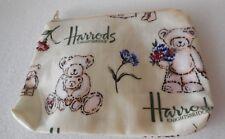 HARROD'S Coated Cloth Teddy Bear Change Coin Purse