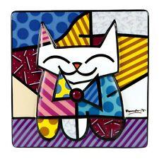 SAMMY Romero Britto Reliefbild 66450677 PopArt Goebel Bild Porzellan Deko Katze