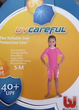 BESTWAY UV CAREFUL SWIM SUN SUIT GIRLS S/M PINK UV SUIT 40+UPF