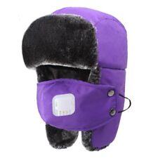 Men Women Kids Winter Wool Fur Ski Ushanka Caps Breathing Trapper Aviator Hats