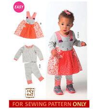 SEWING PATTERN! MAKE BABY GIRL TOP~DRESS~LEGGINGS! NEWBORN~X LARGE! CLOTHES