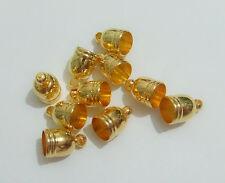 10pz coprinodo terminale in ottone 10x7mm foro 5,5mm colore oro bijoux