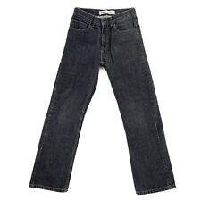 Levi's 505 Size 18 Slim Fit Straight Leg Denim Black Gray Youth Boys Jeans 27x29
