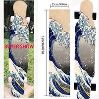"""New 47X10""""Skateboard Longboard Sea Wave pattern Grip Tape Diamond Sheet Griptape"""