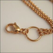 Long Overhead Rose Gold Rolo Chain for Living Locket