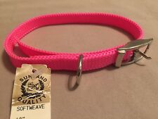 "Sunland Softweave 18"" Dog Collar, Bright Pink"
