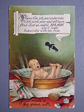 R&L Postcard: Birn Bros BB, Big Splash, Baby Tin Bath, Black Doll