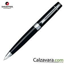 SHEAFFER Sfera 300 Glossy Black, Chrome Plate Trim Ballpoint Pen Lacca Nera