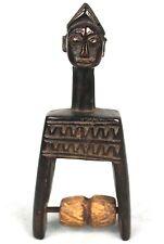 Art Africain Tribal -  Poulie de Métier à Tisser Baoulé - Gravures Akan - 17 Cms