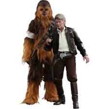 Hot Toys 1 6 Han Solo & Chewbacca Star Wars The Force Awakens Figure Set Model