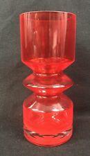 "Riihimaen Lasi Oy Opart Art Vase Tamara Aladin Finland 9-7/8"" Mid Century Modern"
