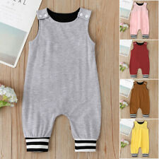 Toddler Infant Baby Boys&Girls Solid Romper Bodysuit Jumpsuit Clothes Outfits