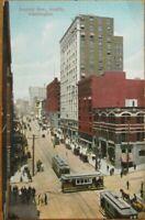 Seattle, WA 1910 Postcard: Second Avenue / Downtown - Washington State