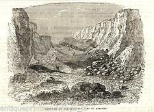Antique print Axmouth East Devon landslide 1840