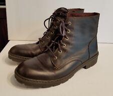 Men's Born Lace Up Comfortable Rugged Boot Otis Barrel Brown H23623 Size 8.5 M
