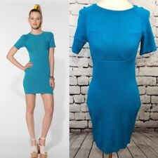 CW by Carin Wester Betty Dress Blue Rayon Knit Bodycon Size M