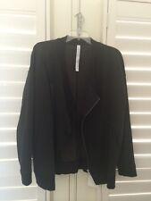 NWT Lululemon Mula Bundle Wrap Black Size 8 Oversized Ribbed Jacket