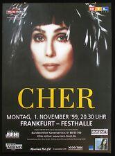 Cher at the Frankfurt Festhalle 1999 Original Vintage Concert Tour Poster