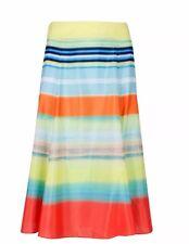 New!!! Ted Baker Multi Colored Chiffon Full Skirt Size 0,1,2 UK Cute!
