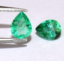 Pear Excellent Cut Loose Natural Emeralds