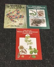 """3 Coloring Books"" ""Reptiles & Amphibians, Snakes of the World & Trees"