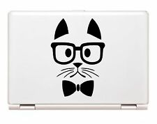Hipster Cat decal with glasses vinyl sticker car truck window laptop ipad