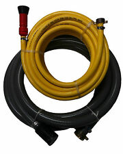 "Fire Fighting Hose Kit - 1x 2"" Suction Hose & 1x 3/4"" Discharge Hose"