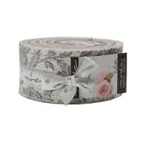 """JELLY ROLL~MEMOIRS by 3 Sisters~40-2.5"""" STRIPS~MODA FABRIC~Floral~44210JR~gray"""