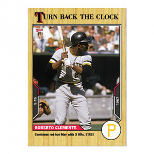 🛑 ROBERTO CLEMENTE 2021 TOPPS NOW TURN BACK THE CLOCK #45 PITTSBURGH PIRATES 🔥