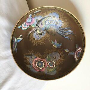 Vintage Art Deco Carlton Ware Matt & Lustre Enamels New Chinese Bird &Cloud Bowl