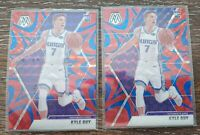 Lot (2) 2019-20 Panini Mosaic Basketball Blue Reactive Prizm Kyle Guy RC Kings